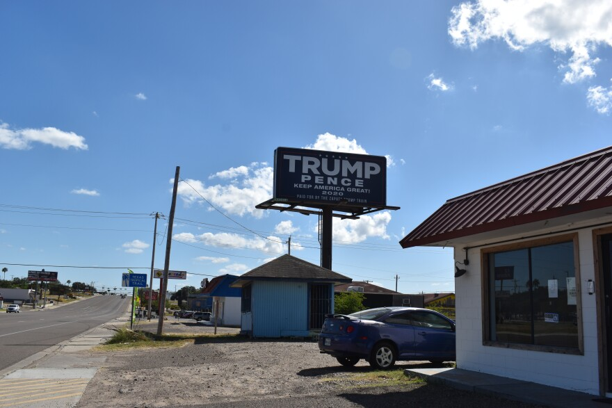 Members of the Zapata Trump Train Facebook Group paid to up Trump-Pence billboards in Zapata and Webb County.