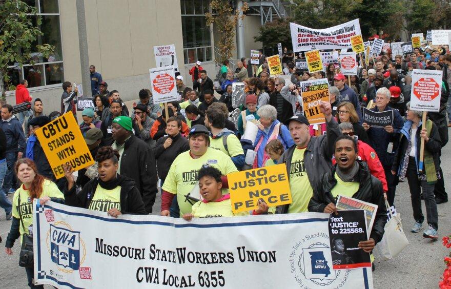 Many labor unions were represented.