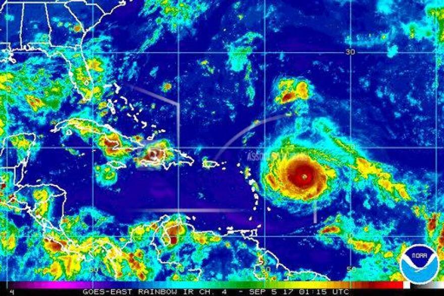 Hurricane Irma is expected to make landfall in the Leeward Islands beginning Tuesday night.