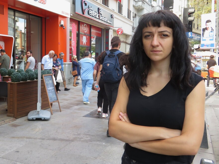 """""""Some of these men don't even think we have the right to live,"""" says Fidan Ataselim of the activist group We Will Stop Femicide."""