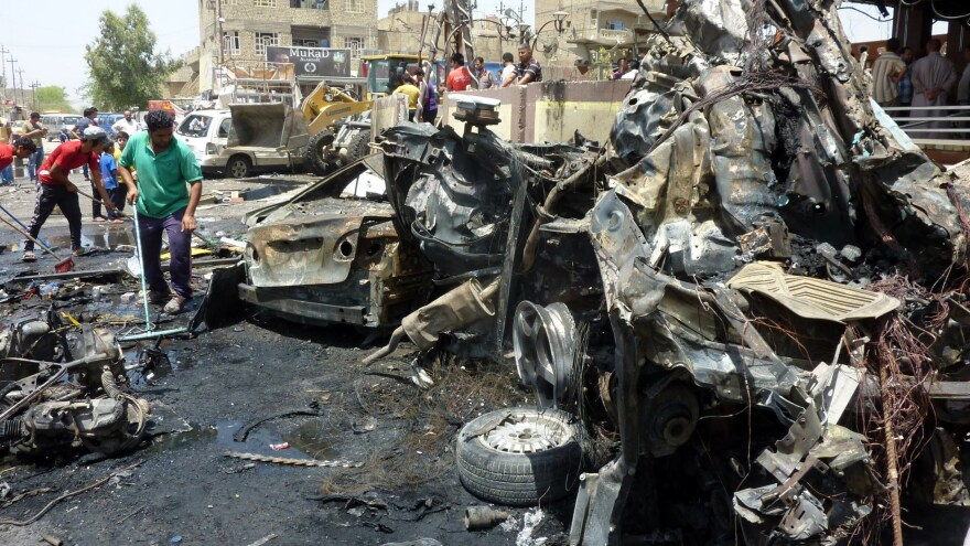 Baghdad's Sadr City district, which was hit by twin car bombs on Wednesday, also suffered a deadly attack last Friday.