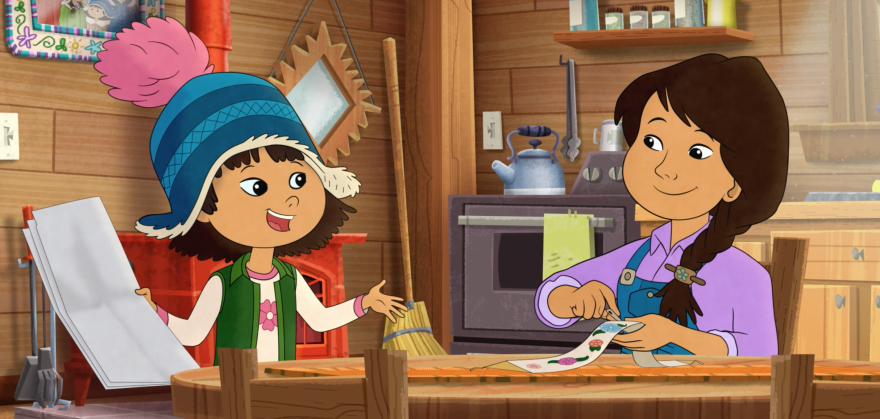 In the PBS program <em>Molly of Denali</em>, Alaska Native Molly Mabray helps her mom run a trading post in an Alaskan village.