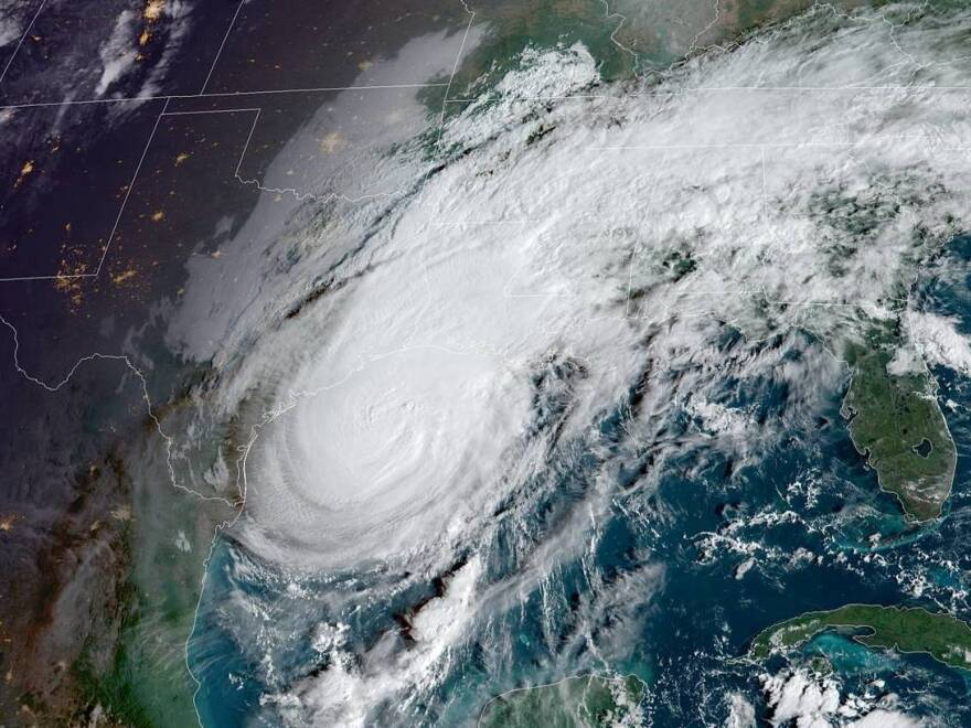 Hurricane Delta is looming over the northern Gulf of Mexico Friday, as it heads toward landfall on Louisiana's coast.