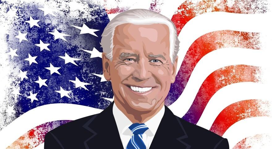 An illustration of Joe Biden.