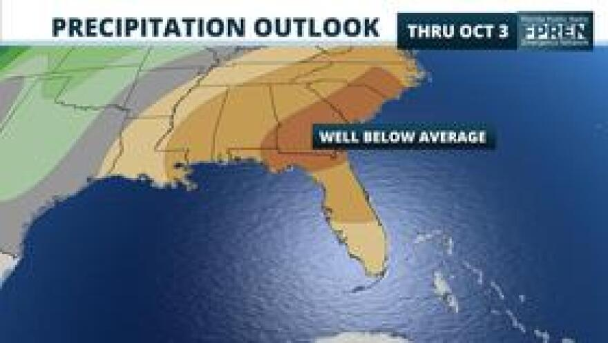 The 6-10 day precipitation outlook from the Climate Prediction Center (NOAA) as of Sep. 26