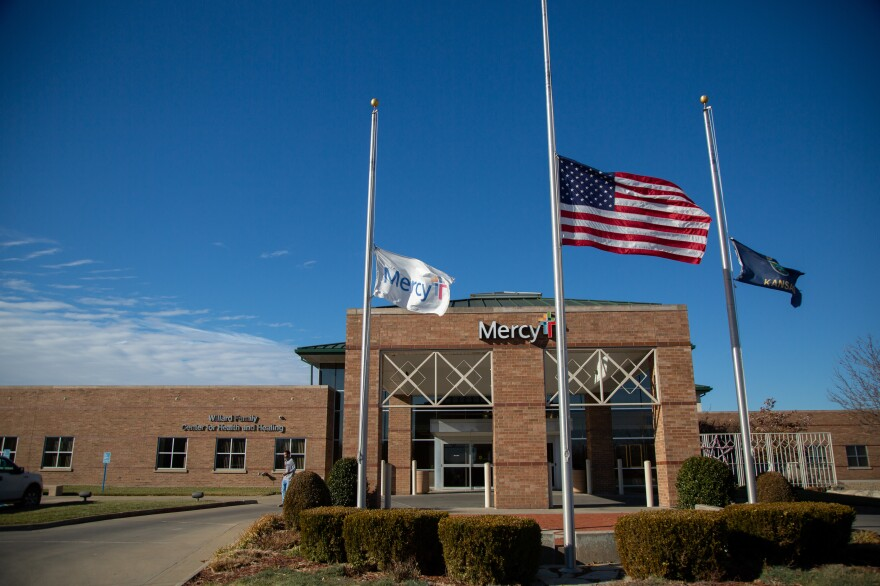 Mercy Hospital in Fort Scott, Kan., flew its flags at half-staff in December in honor of former President George H.W. Bush, who died Nov. 30.