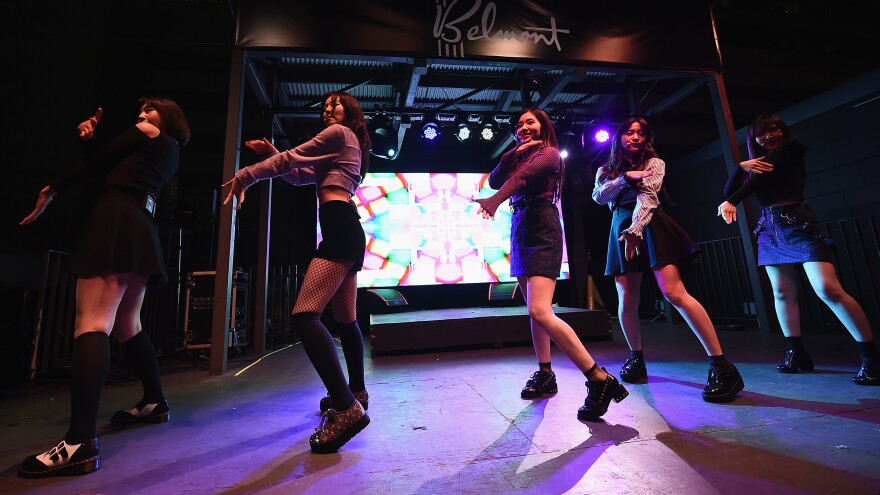 Red Velvet performs at K-Pop Night Out during the 2017 SXSW Conference in Austin, Texas. This weekend the group will perform in Pyongyang.
