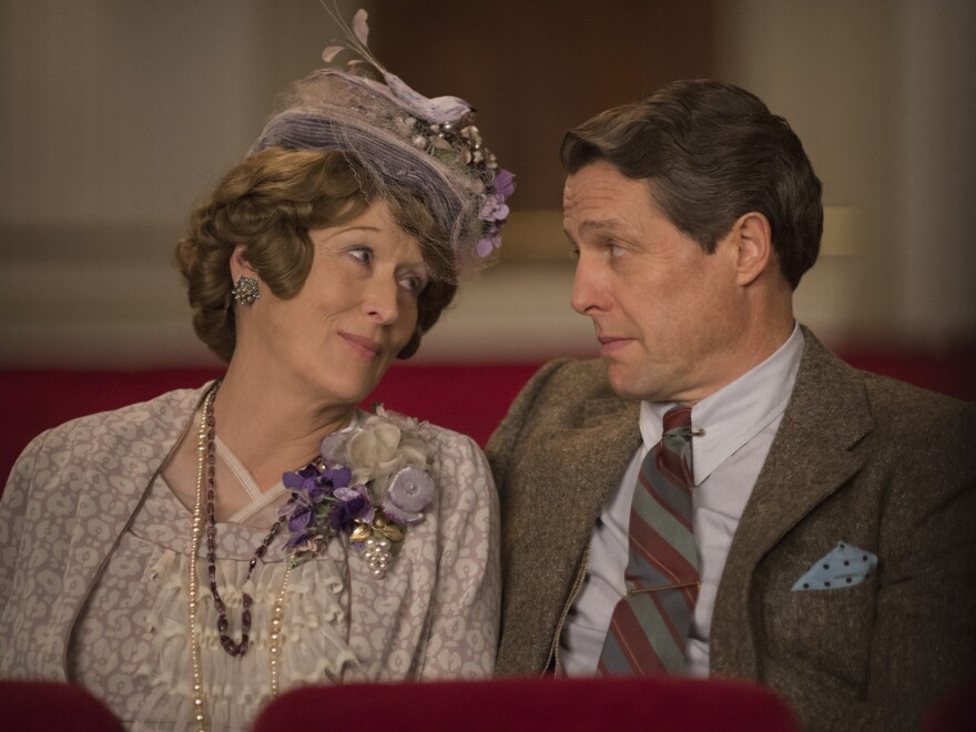 Meryl Streep plays the title character, and Hugh Grant is her doting hubby, in <em>Florence Foster Jenkins.</em>