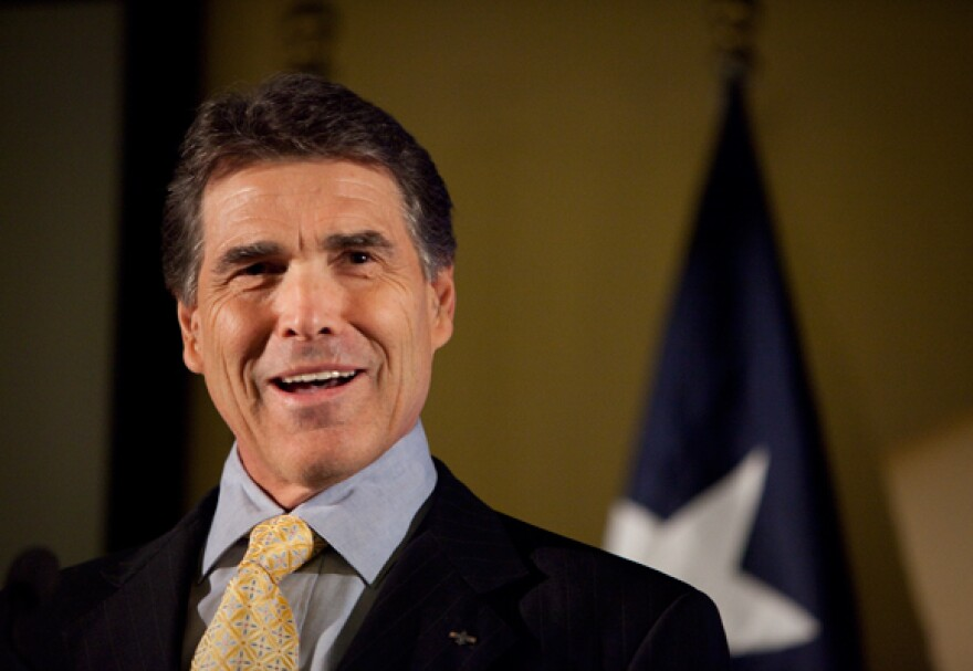 """Gov. Perry called on legislators to back his """"Budget Compact"""" today."""