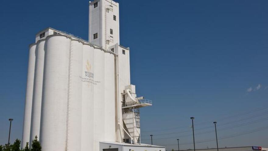 Photo of grain silos.