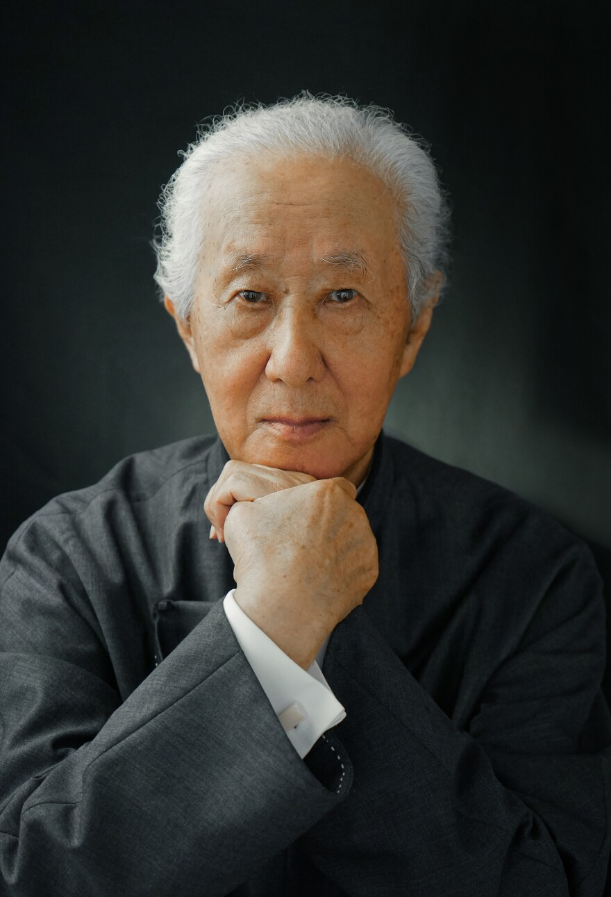 Arata Isozaki, winner of the 2019 Pritzker Prize, poses for a photograph. Isozaki is the eighth Japanese-born architect to win the prestigious prize.