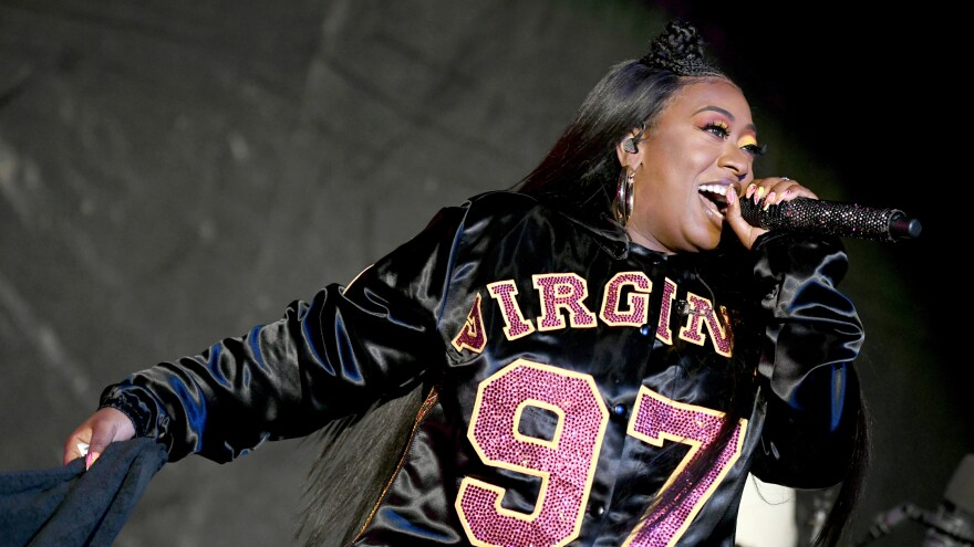 Missy Elliott performs onstage at Something in the Water Festival in April 2019 in Virginia Beach City. The rapper's latest EP, <em>Iconology</em>, is out now.