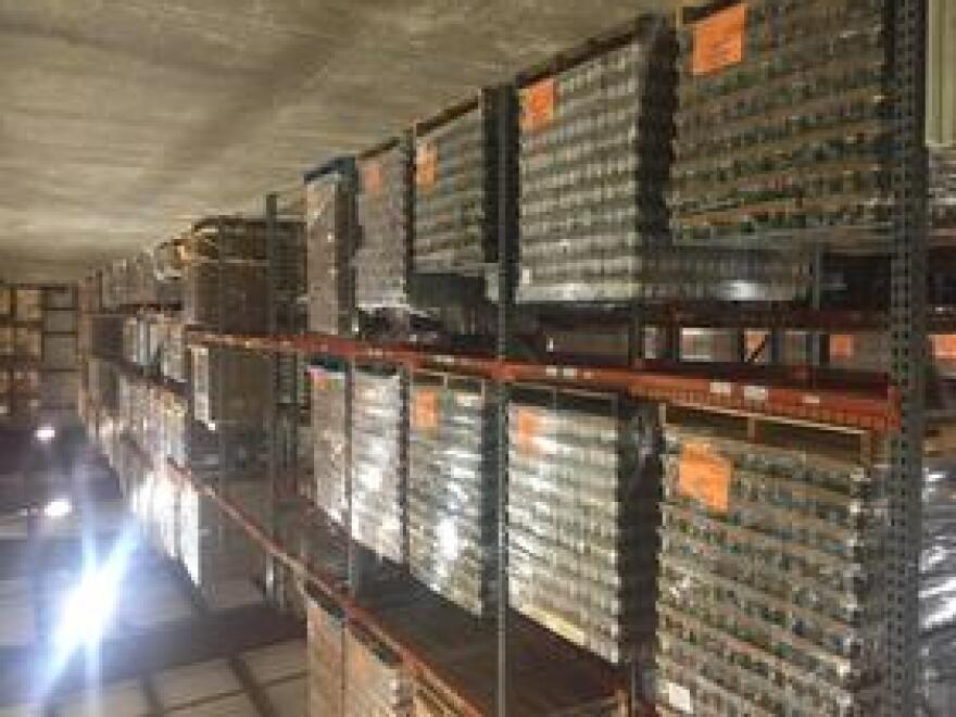 Pallets of canned good to be distributed wait in the Second Harvest of the Big Bend warehouse December 4, 2018.