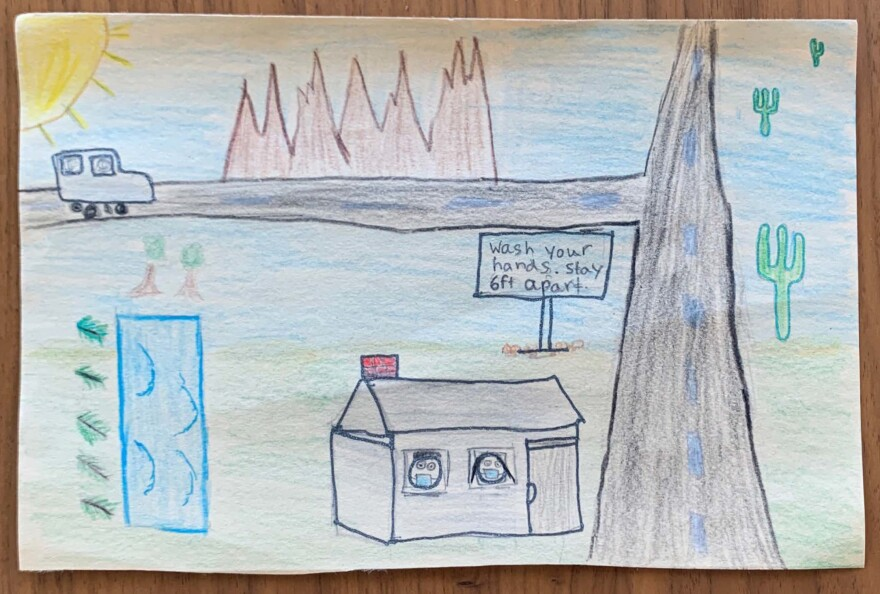 Nine-year-old Avish from Phoenix was hands-down our favorite landscape artist.