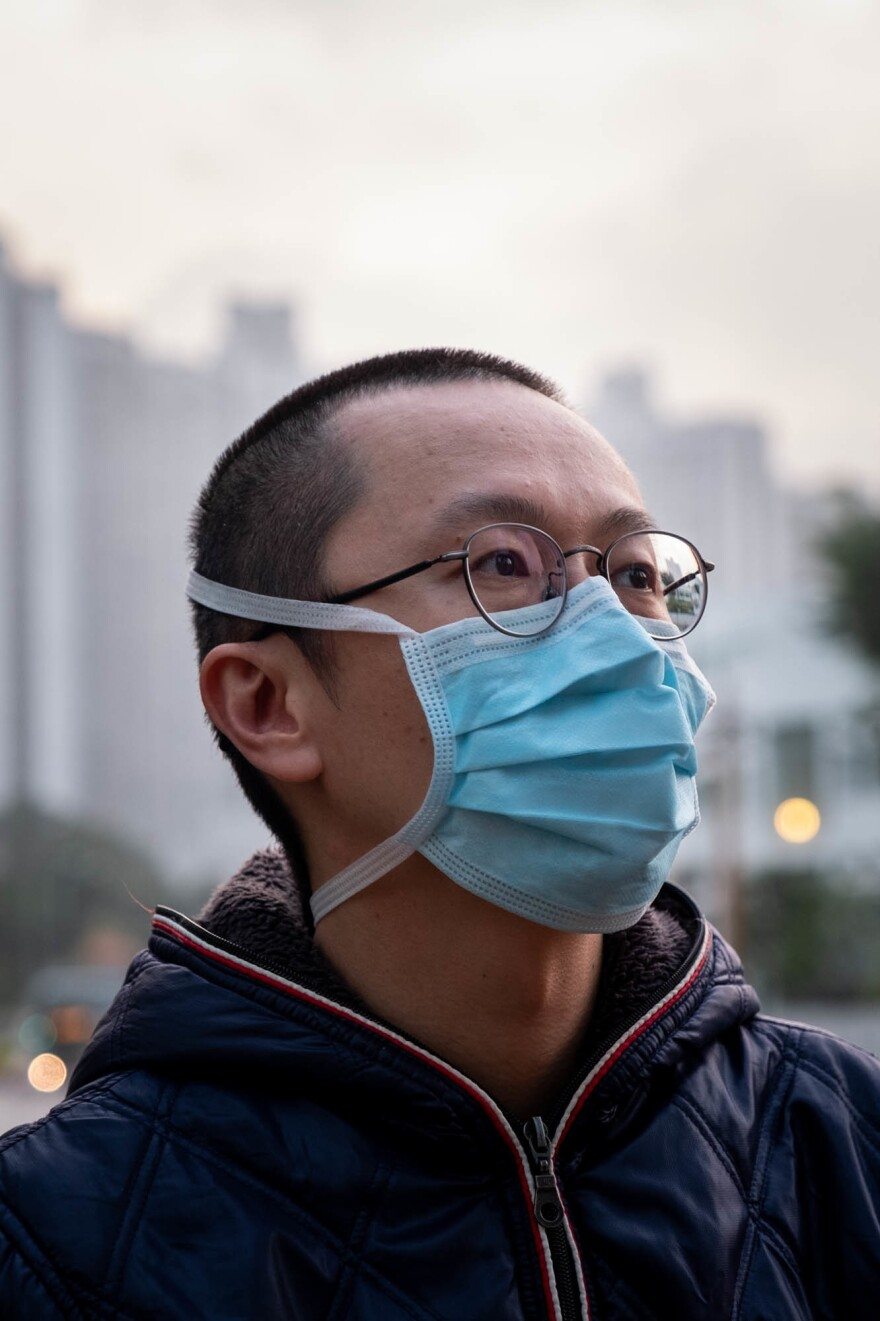 Alfred Wong, a cardioligst at Tuen Mun Hospital in northwest Hong Kong, now treats patients with COVID-19 and those suspected of infection. Wong, who grew up in Hong Kong, is frustrated with the slow response from the government in working to stop the spread of the disease.