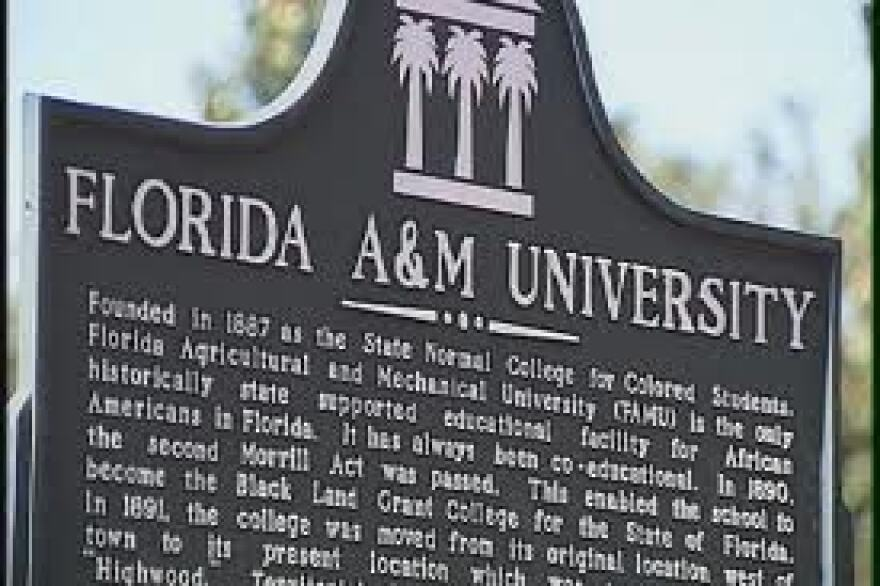 Picture of marker on Florida A&M University's campus