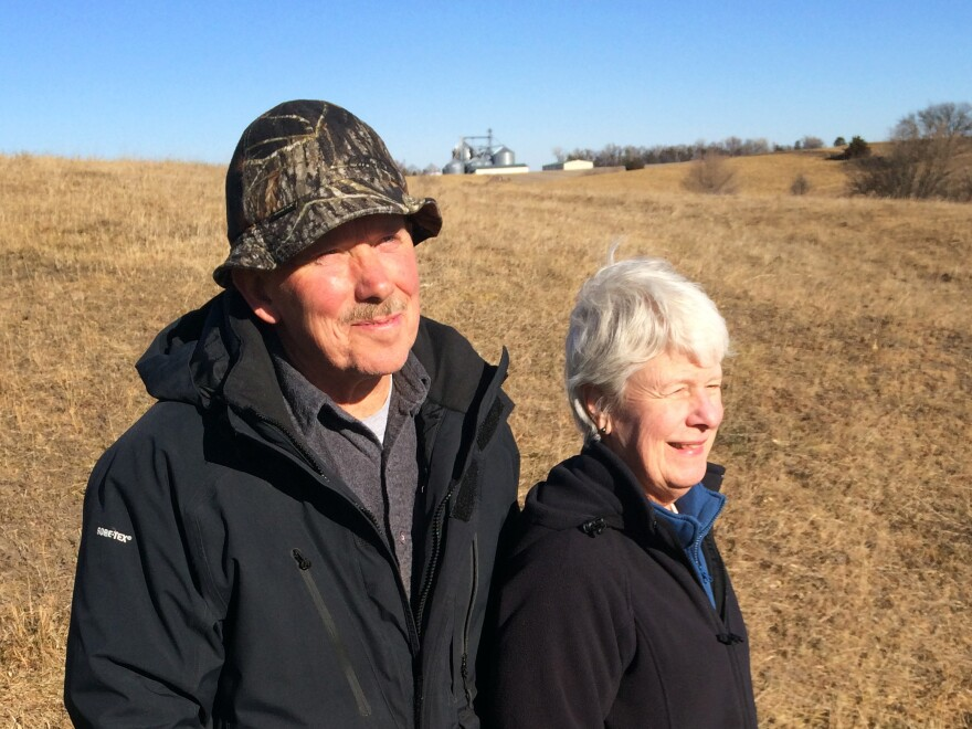 Bill and Susan Dunavan have resisted TransCanada's plans to build the pipeline on their 80 acres of land.