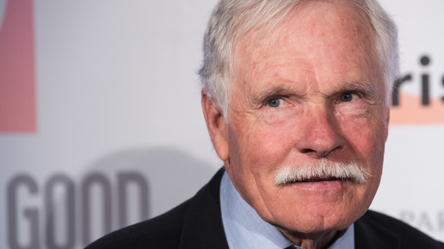 Seen here in 2015, Ted Turner spoke on <em>CBS Sunday Morning </em>about his diagnosis of Lewy body dementia.