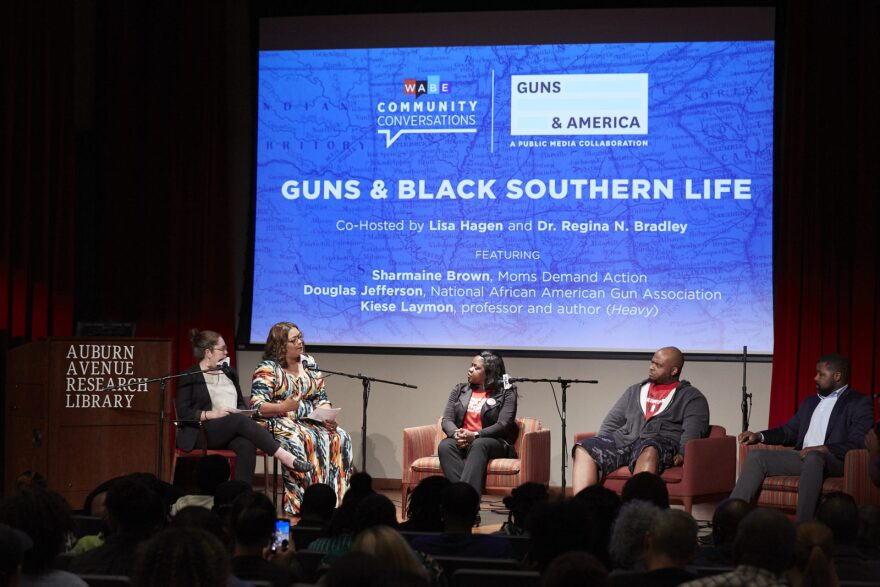 Guns & America's Lisa Hagen co-moderates a panel discussion in Atlanta on guns in black southern life.