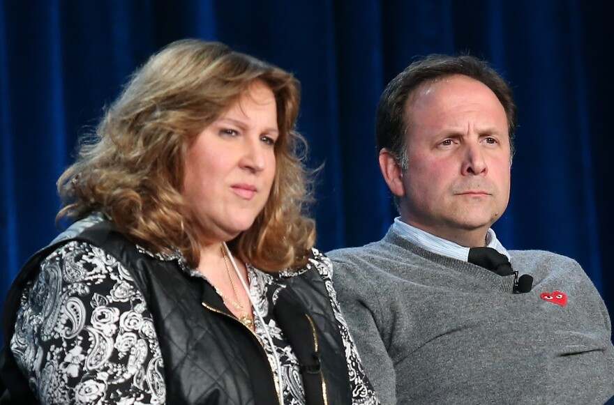 Executive Producer Carol-Lynn Parente and actor Joey Mazzarino attend the PBS panel during the Winter Television Critics Association tour in 2014.