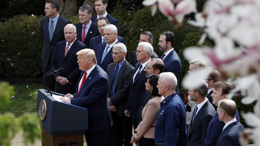 President Trump held a news conference regarding the coronavirus in the Rose Garden at the White House on Friday, along with members of his administration and business leaders.