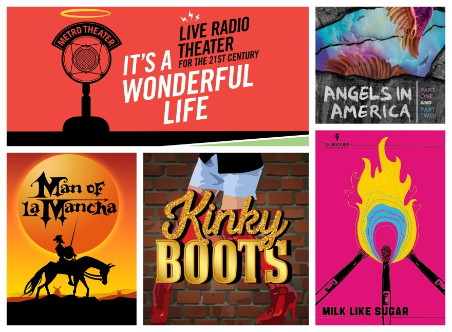 A selection of posters of productions with nominations for the 2020 St. Louis Theater Circle Awards.