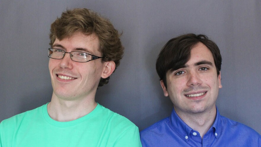 "Brothers Russell Wadsworth, 28, (left) and Remmick Wadsworth, 27, both have autism. ""To have a brother who shares something that you have, the same kind of emotions ... it just means the world,"" Russell tells his younger brother during a StoryCorps interview."