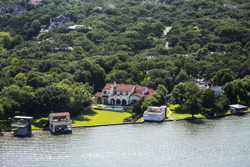Properties along Lake Austin are exempt from city taxes.