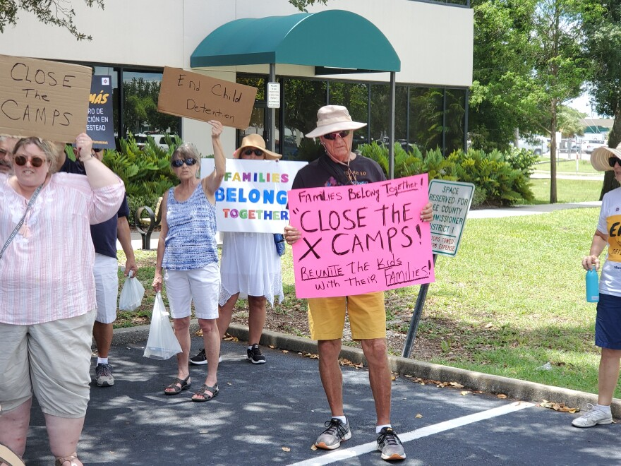 Migrant Detention Protest at U.S. Rep. Francis Rooney's Cape Coral Office