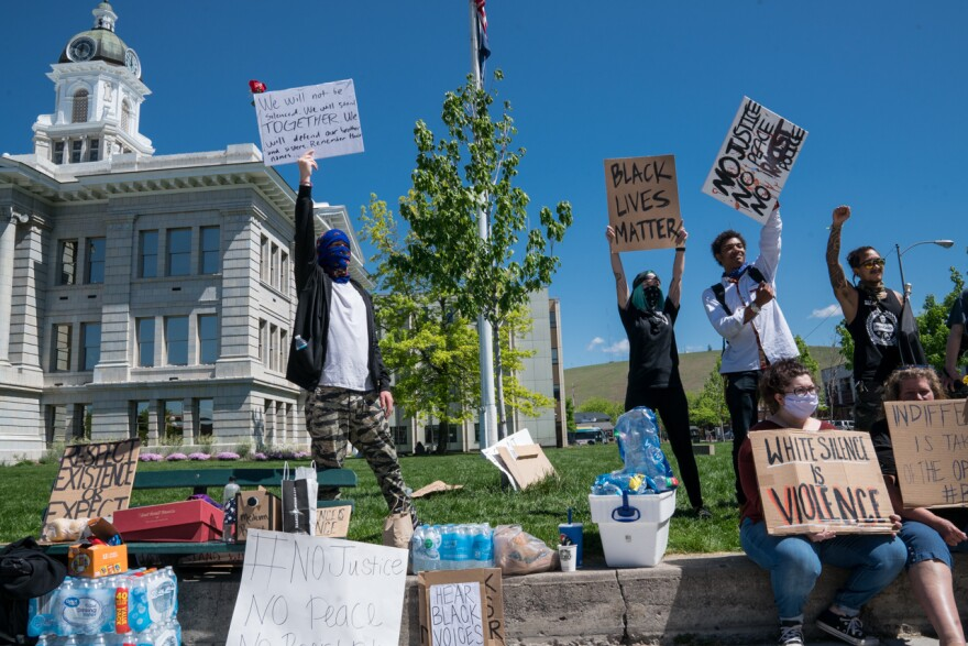 People protest at the Missoula Courthouse, June 2, 2020. The death of George Floyd, a black man while being arrested in Minnesota spurred protests across the country.
