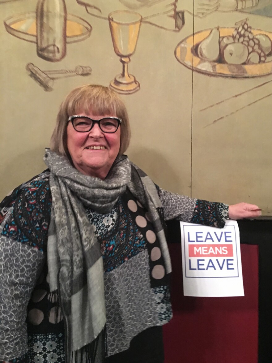 "At the Leavers of Lincolnshire meeting last week, ""We didn't know anybody ... and we started to talk and we all felt the same,"" says Peggy Reading. ""That was absolutely great. We can breathe."""