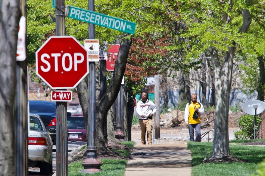 Street shot of Preservation Square. April, 2020