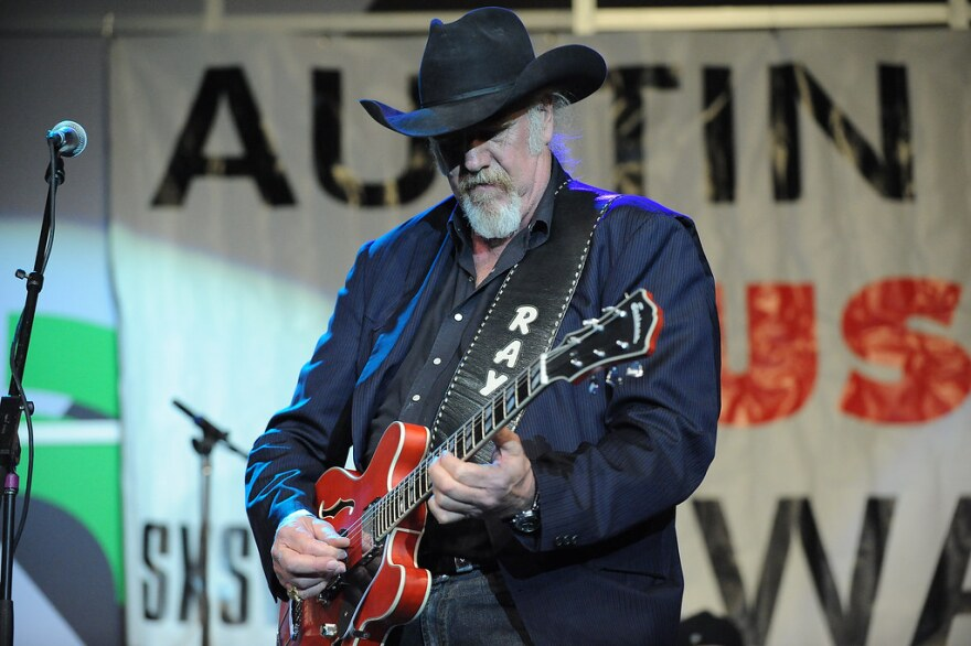 Ray Benson performing onstage at the Austin Music Awards in 2014.