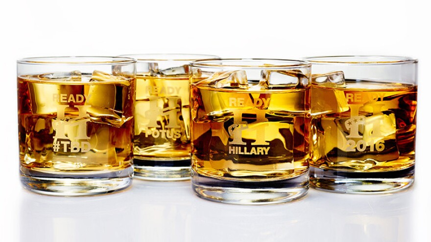 Hillary Rocks! logo glasses are being sold by the Ready for Hillary PAC for $25.