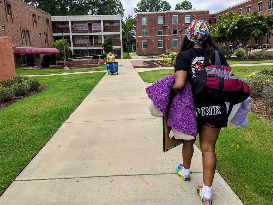 Students began moving into residence halls at Fayetteville State University the final week of July, 2020.