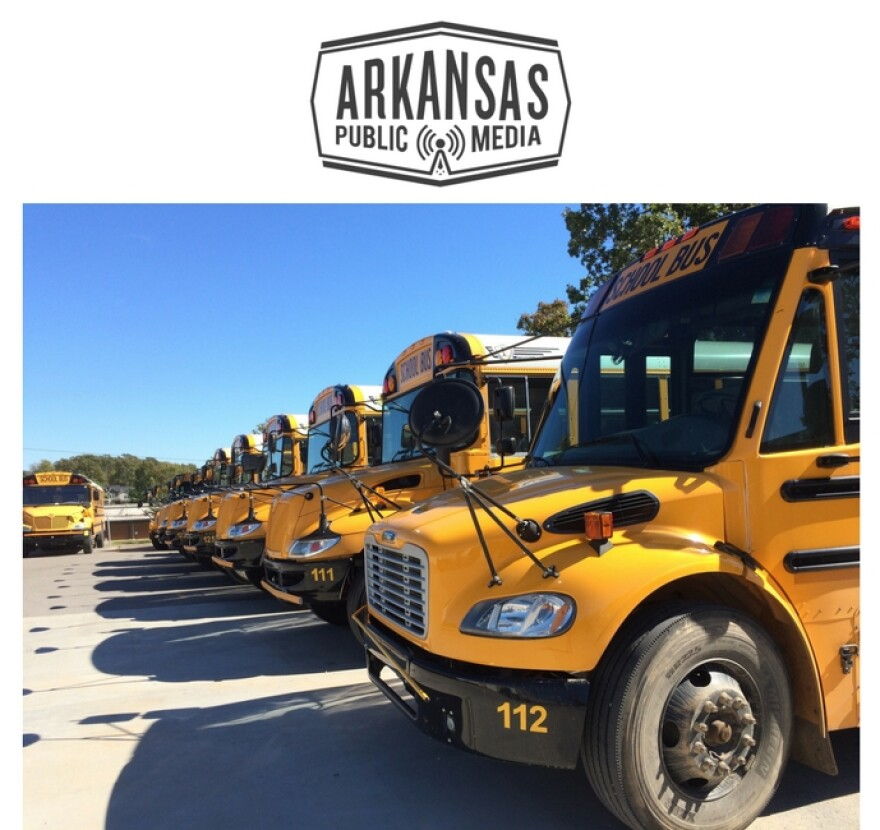 Fayetteville Public Schools operates a fleet of 80 buses on 56 routes.