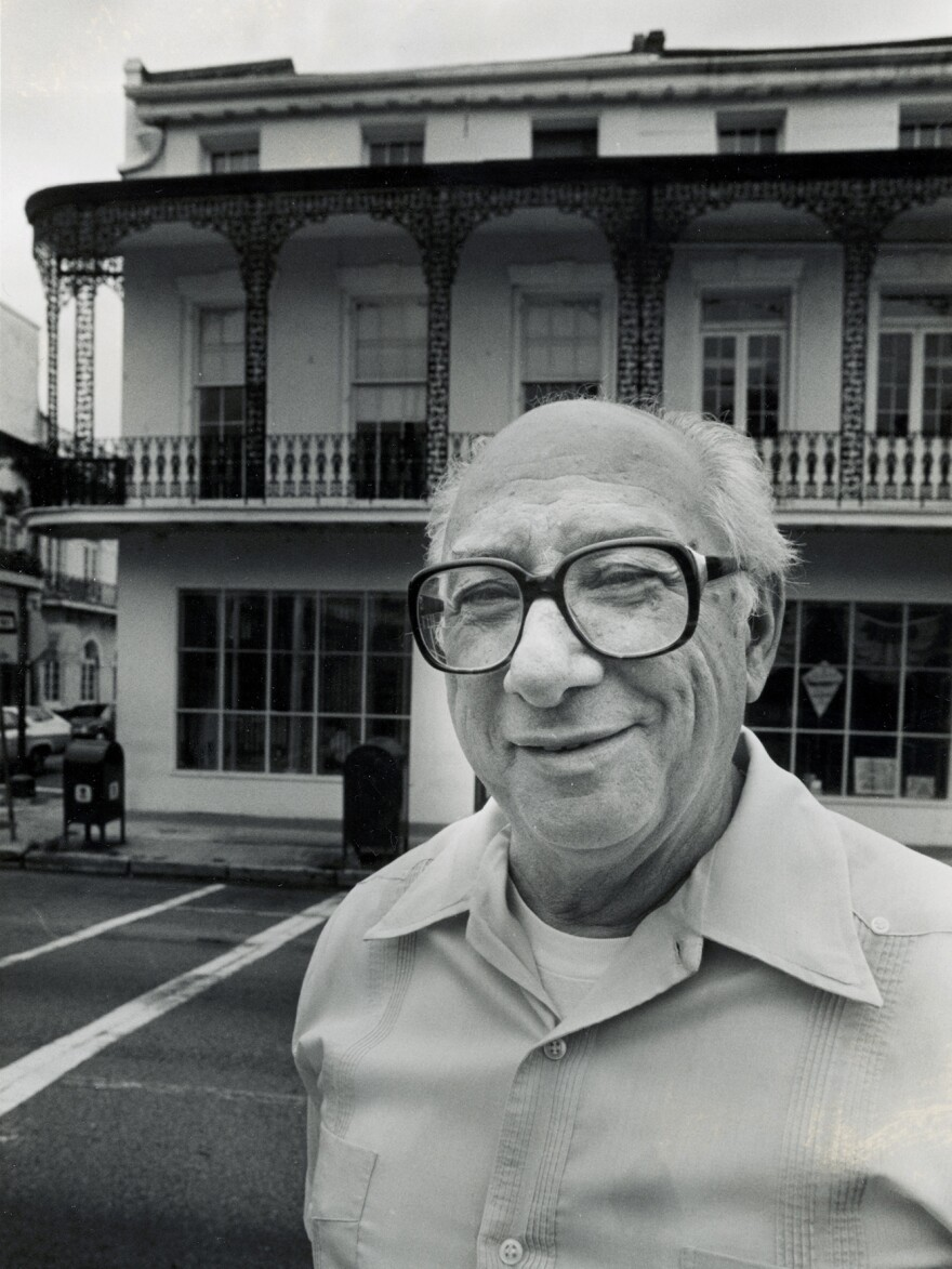 Cosimo Matassa outside the J&M Studio building, years after the landmark recordings there.