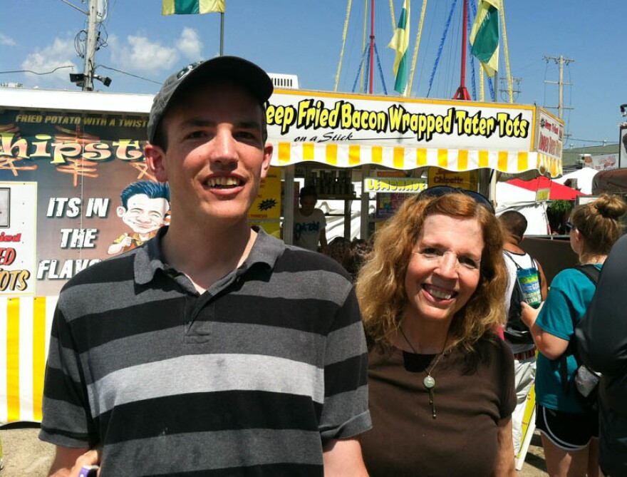Walker Hughes, with his mom Ellen Hughes, at the 2017 Wisconsin State Fair.