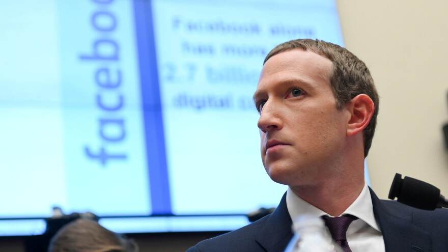 Facebook says it will continue to allow political ads to be targeted to only small groups of its users. Here, Facebook Chairman and CEO Mark Zuckerberg is seen visiting Congress for a hearing last October.