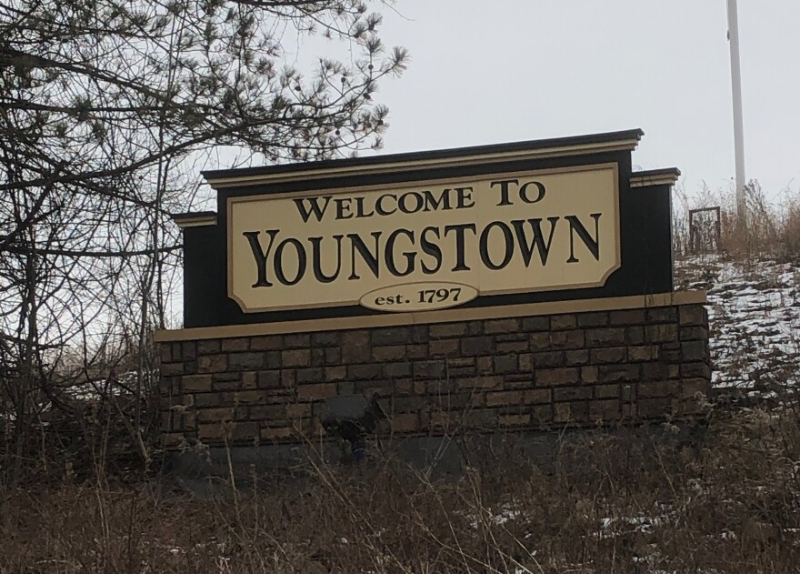 a photo of a welcome to Youngstown sign