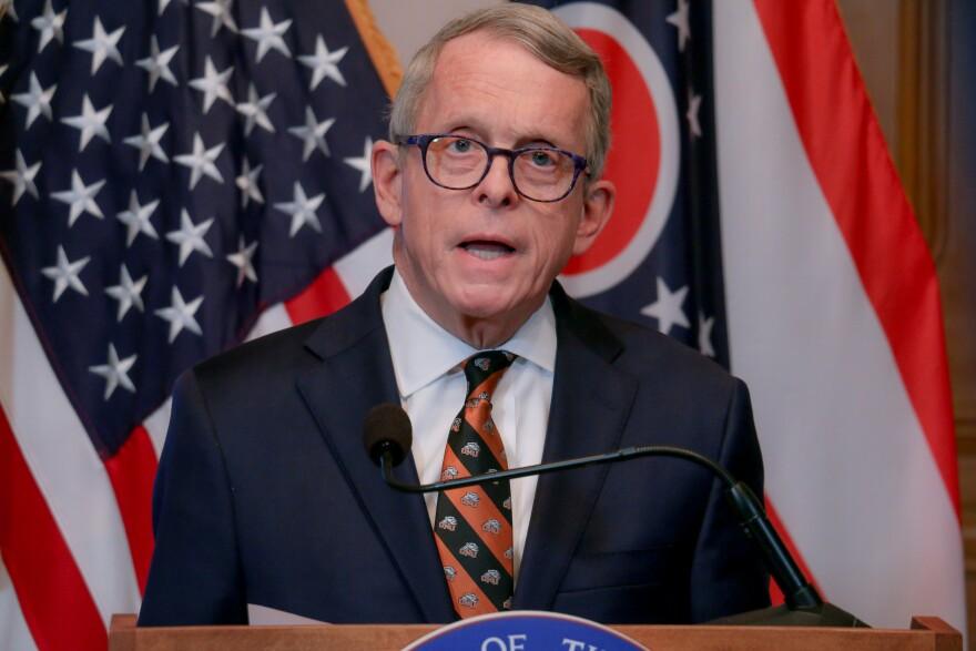 Ohio Gov. Mike DeWine during his April 1, 2020, coronavirus briefing.