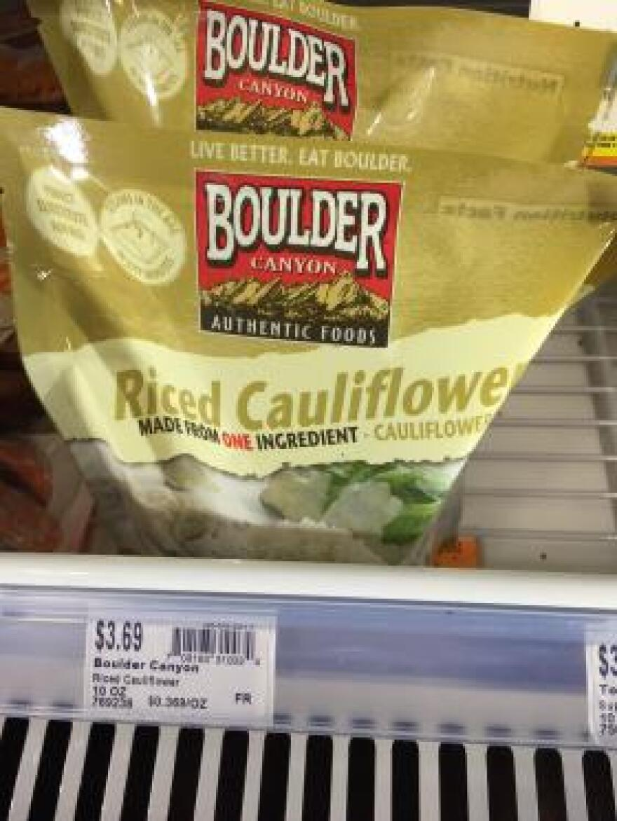 This bag of Boulder Canyon's Riced Cauliflower available for sale at a natural grocery store in Jonesboro this month appeared to head off any controversy over the name by specifying on the package that it was made from one ingredient: cauliflower.
