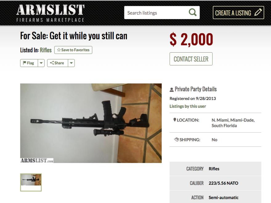 Armslist website