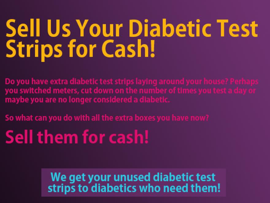 A screenshot from sellusdiabeticteststrips.com.