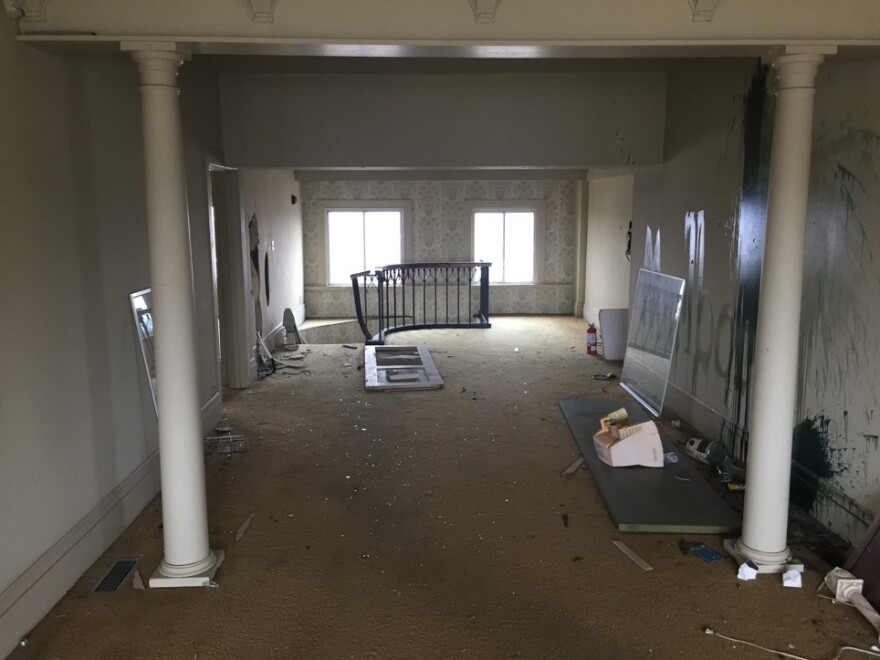 Author Andrew Walsh visited the now unused penthouse recently.