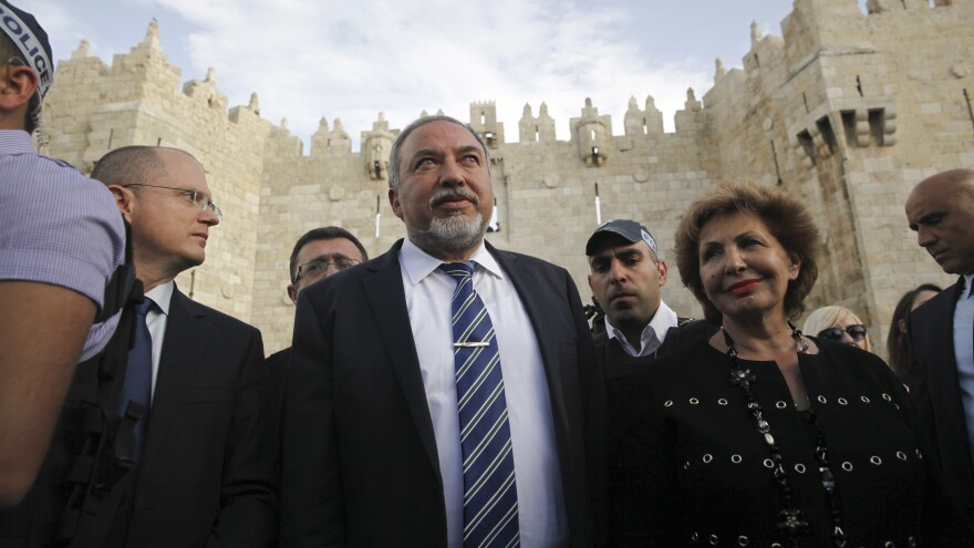 Avigdor Lieberman, who became Israel's new defense minister this week, visits Jerusalem's Old City on March 9. Lieberman's hard-line positions and controversial remarks have ignited fierce debate in Israel and beyond.