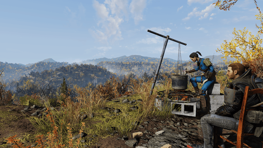 A screenshot from the video game Fallout 76.