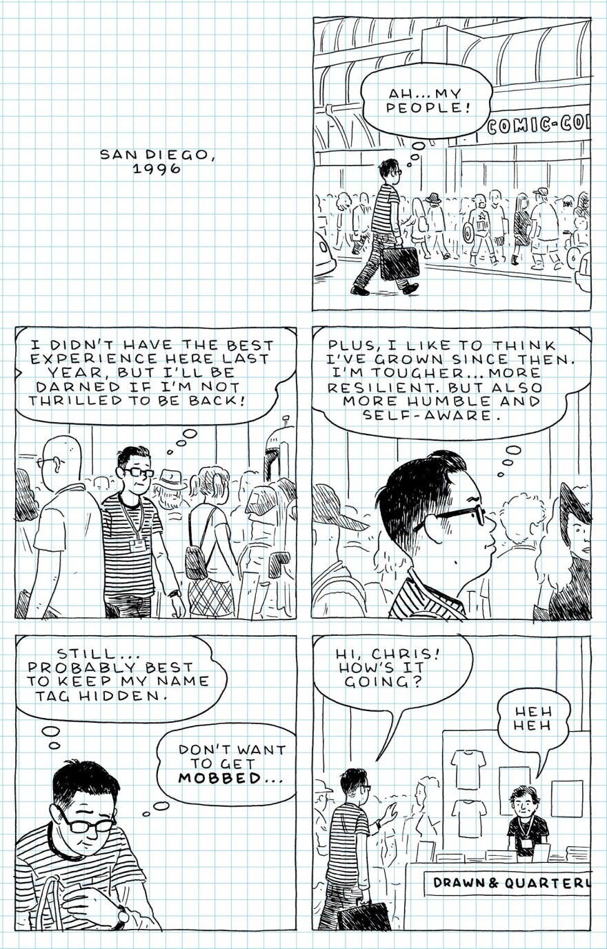 From <em>The Loneliness of the Long-Distance Cartoonist </em>by Adrian Tomine
