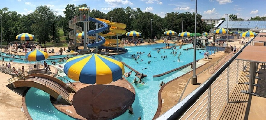 The aquatics center in Batesville is one of the largest in the state, and cost about $25 million to build. It was funded by a voter-approved 1% sales tax increase.