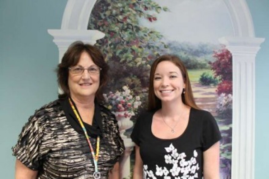 Barbara Locke, left, runs the health department in Dixie, Gilchrist and Levy counties. Julie Moderie, right, runs the Healthy Start Coalition for North Central Florida.